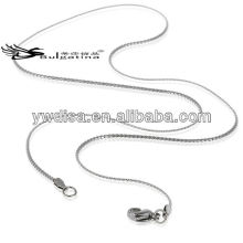 45 centímetros de comprimento Lady cadeia de aço inoxidável colar para jóias fazer cadeia de cobra