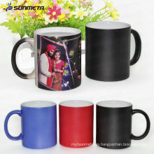 Taza de cambio de color de foto de sublimación de 11 oz, taza de cerámica de Magic al por mayor directa de fabricante