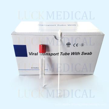 Prélèvement d'échantillons de kit de transport viral jetable