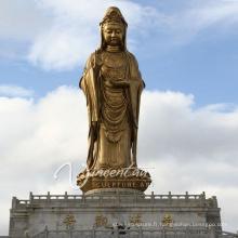 Haute qualité extérieure jardin décoration bronze femelle Bouddha statue