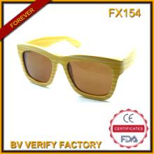 Óculos de sol quadro de bambu artesanal por atacado Fx154