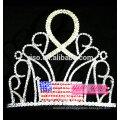 Fábrica de yiwu melhor design bandeira de cristal com tiara de strass de fita dourada