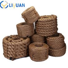 Wholesale natural twisted 3 strand manila rope