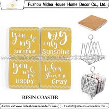 Coasters de souvenirs de mariage avec un beau design