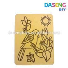 Tarjeta de papel de arte de arena para niños sin arena