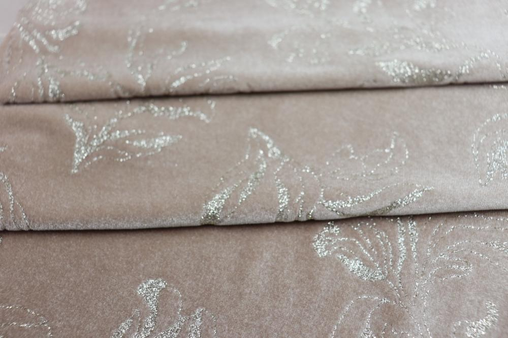 Poly Knit Fabric Print Velvet Fabric for Sofa