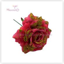 16cm X'mas dekorative Blumen-Verzierung für Weihnachtsbaum-Dekoration