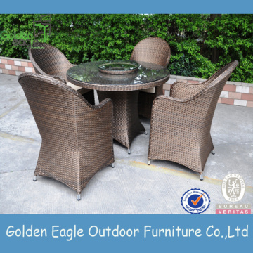 Conjunto de jantar Royal Outdoor Rattan Furniture