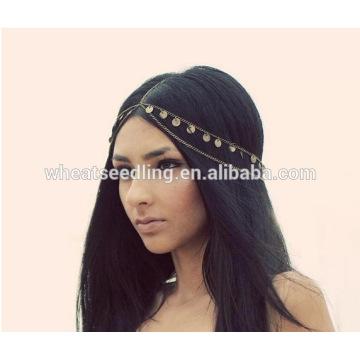 Atacado Hot vendendo indiano cabelo cabeça da cabeça da jóia