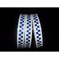 Blue Reflective Printing Chequer Tape for Police Cloths