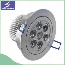 Weißes Aluminium 3W 5W 7W 9W 12W 15W LED Deckeneinbauleuchte