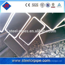 Black square section shape seamless steel pipe structure tube
