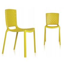 Meubles en plastique jaune Chaises de restaurant empilables