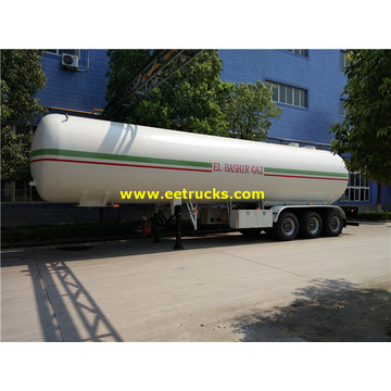 54000L Bulk Propane Gas Semi-remorques