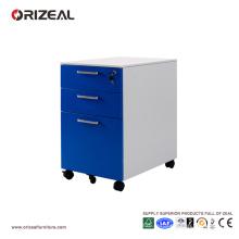 Cabinet mobile de classement en acier de piédestal de meubles de bureau