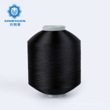 Newest RPET 75D/36F Black FDY Recycle Polyester warp Yarn with GRS and TC for weaving