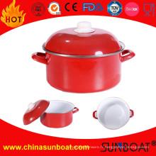 Gratin de gril de casserole d'émail de fonte / casserole en métal de casserole / casserole en métal de casseroles