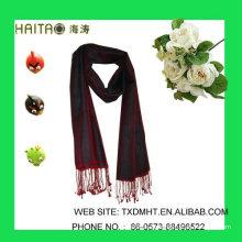 Bufanda de seda roja de las señoras el 30% seda el 70% acrílico <HT704>