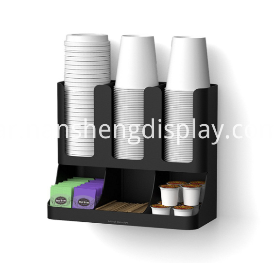 6 Compartment Upright Coffee Condiment Cups Storage