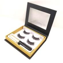 Fiber false eyelashes magnetic eyeliner eye lashes set
