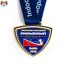 Custom gold metal hockey medals