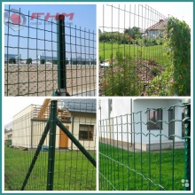 Green Euro Fence Welded Fence dengan Post