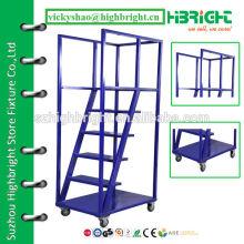 metal security ladder for supermarket