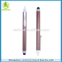 Caneta de madeira promocional de novo projeto toque de caneta para smartphone