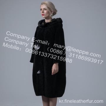 가역 호주 Merino Shearling Long Coat Women