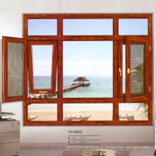 Woodwin Hot Seller Индивидуальный стиль Двойное закаленное стекло Алюминиевое окно
