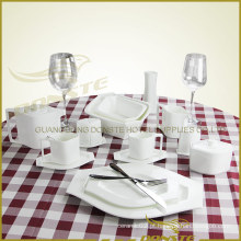 15 PCS Ceramic Tableware Série Tema Lozenge