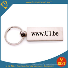Custom Website Logo Engraving Metal Keychain