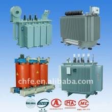 Alta eficiência transformadores de distribuição de energia elétrica fase três