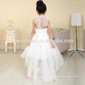 2016 nouvelle mode court avant longtemps retour réel échantillon fleur fille robe pour le mariage occidental