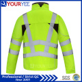 Affordable Waterproof Hi Viz Workwear Soft Shell Fleece Jacket (YFG113)