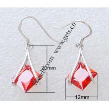 Gets.com 2015 Mode Sterling Silber quadratischen Ohrringe