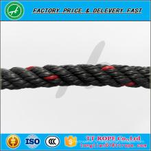 4 brins 13mm ligne rouge couleur noire pp recyclé corde