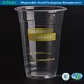 Tazas de plástico transparente, tazas de café helado, artículos de fiesta, tazas de bebidas frías