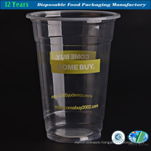 Disposable Clear Plastic Drink Cup with Lid