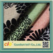 Polyester Flocage Tissu pour Sofa pour Tapisserie