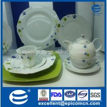 Jantar de porcelana de alta qualidade europeia diária usada