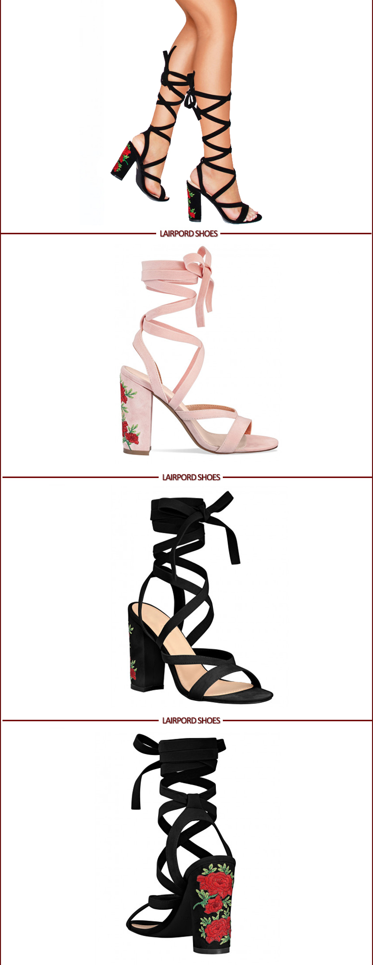 lace strappy sandals