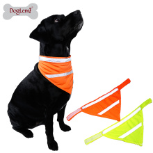 Atacado Reflective Dog Pet Bandana Acessórios Dog Pet Safety Neon Scarf