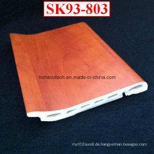 Kreative Installation WPC Sockelleiste Sk93-803 PVC-Folie beschichtet Boden Sockelleiste
