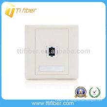 SC Single Port Fiber Optic Faceplate / Wandplatte