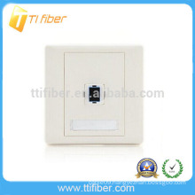 SC Single Port Fiber Optic Faceplate/ Wall Plate