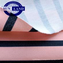 Tissu jersey simple 100 polyester blanchi pour impression par sublimation