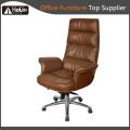 Cadeira de escritório de couro sintético com almofada macia de design moderno