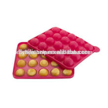 FDA LFGB approved colorful silicone molds for cake baking pop