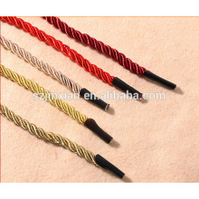 Handbag twist handle rope with metal barb/paper bag rope with plastic tips for handle